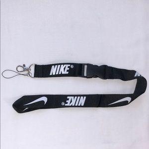 New Nike Black and White Lanyard ID Badge Keychain